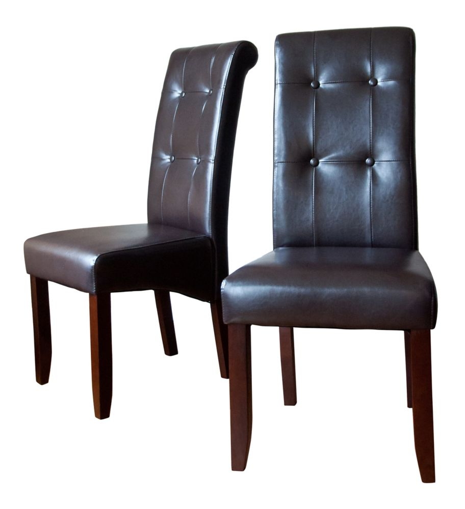 Cosmopolitan Deluxe Tufted Parson Chair 2 Pack
